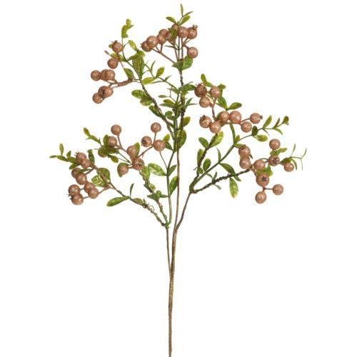 Glitter-Beerenbl.-Zw.9-f. 45Cm rose-gl.