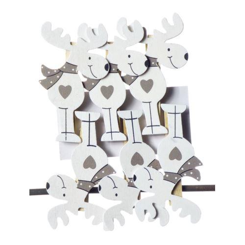 RENIFERY SPINACZE DREWNO 6SZT/KPL white