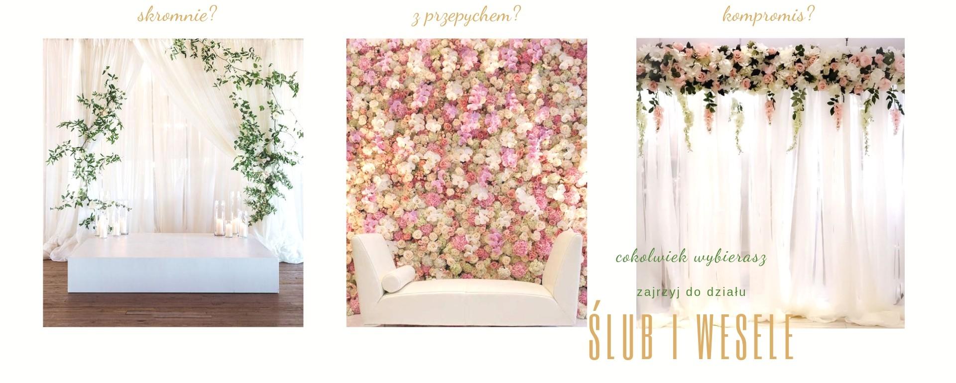 dekoracje ślubne i weselne